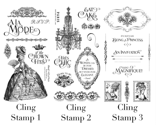 Introducing Gilded Lily, a new collection from Graphic 45 that will be in stores in late May! These are the Hampton Art cling stamps with this new collection #graphic45