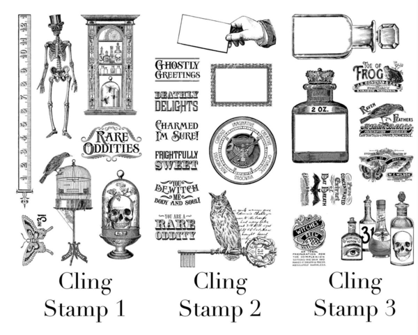 The Hampton Art and Graphic 45 Rare Oddities Cling Stamps. Get this collection in stores in late May 2015! #graphic45 #sneakpeeks