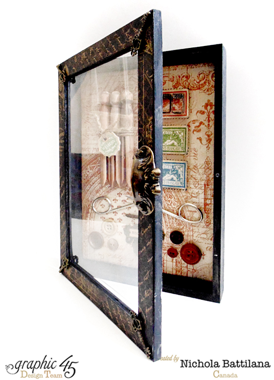 A French Country curio cabinet by the fabulous Nichola #graphic45