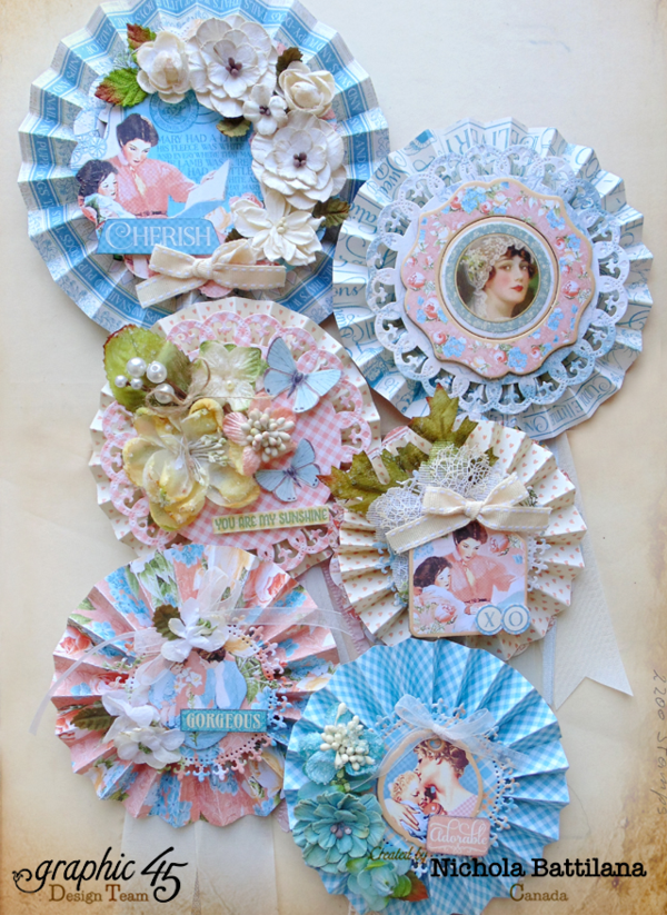 Gorgeous Mother's Day rosettes from Nichola using Precious Memories! #graphic45