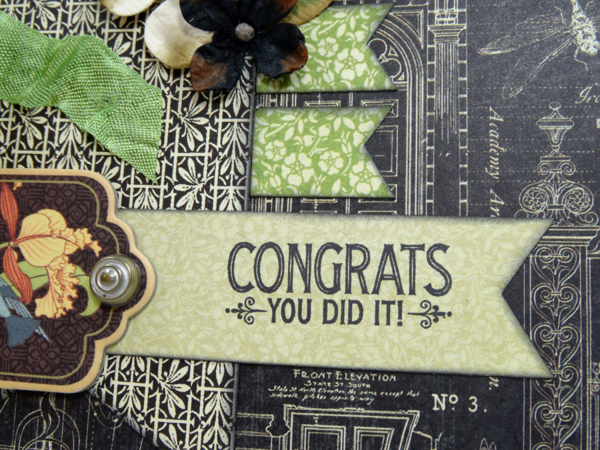 """Congrats You Did It!"" graduation card by Annette Green using Artisan Style #graphic45"