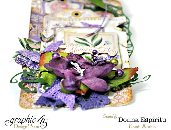 "Gorgeous florals on this Time to Flourish ""Happy Mother's Day"" tag by Donna #graphice45"