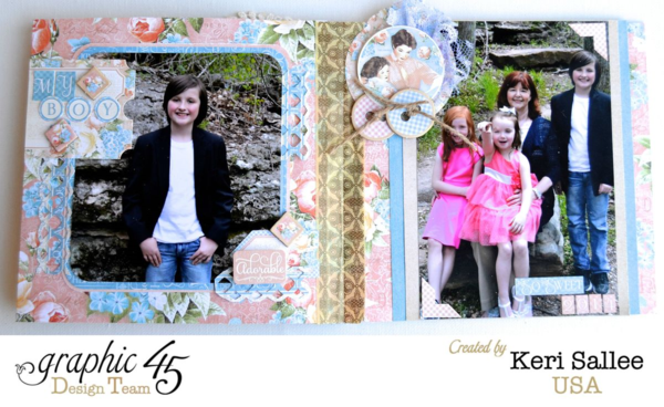 Love the photos inside Keri's Precious Memories mini album! So beautiful #graphic45