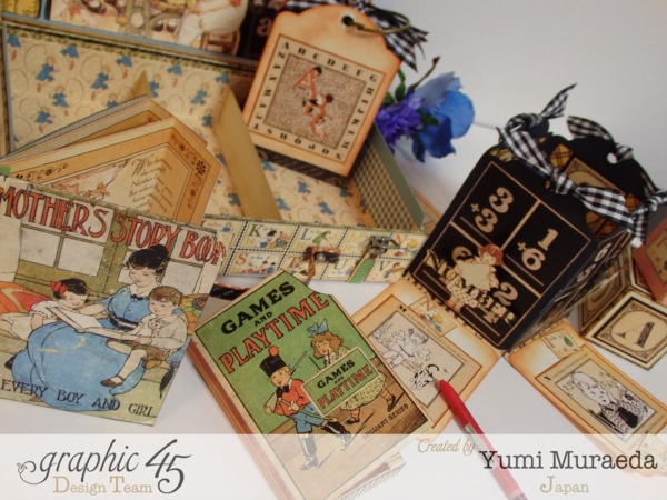 So many amazing creations inside this An ABC Primer case by Yumi! It's a treasure chest of goodies #graphic45