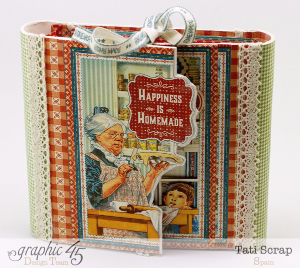 Tati Scrap created this amazing Home Sweet Home recipe book! Click to see the inside! #graphic45