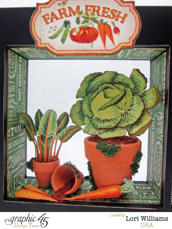 We love these mini veggie pots with paper and these mini pottery. So brilliant! #graphic45