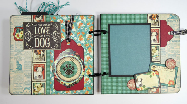 Awesome photo mats in this Raining Cats & Dogs album by Annette. Love this! #graphic45