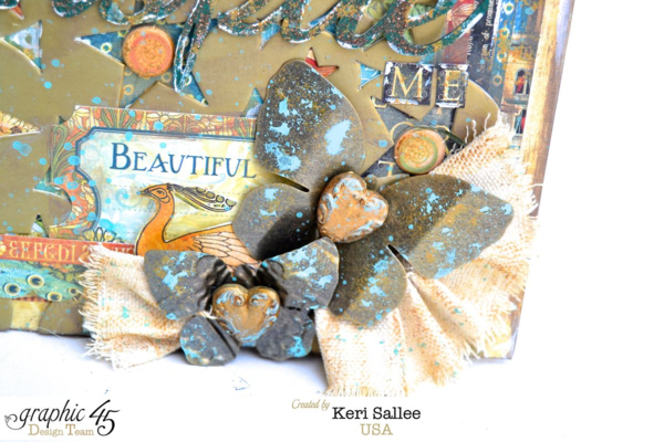Keri makes our Metal butterflies shine with some great paint! #graphic45
