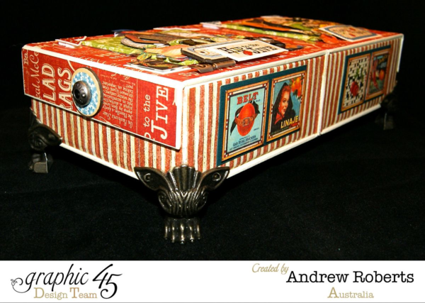 Times nouveau haberdashery box by Andrew Roberts #graphic45