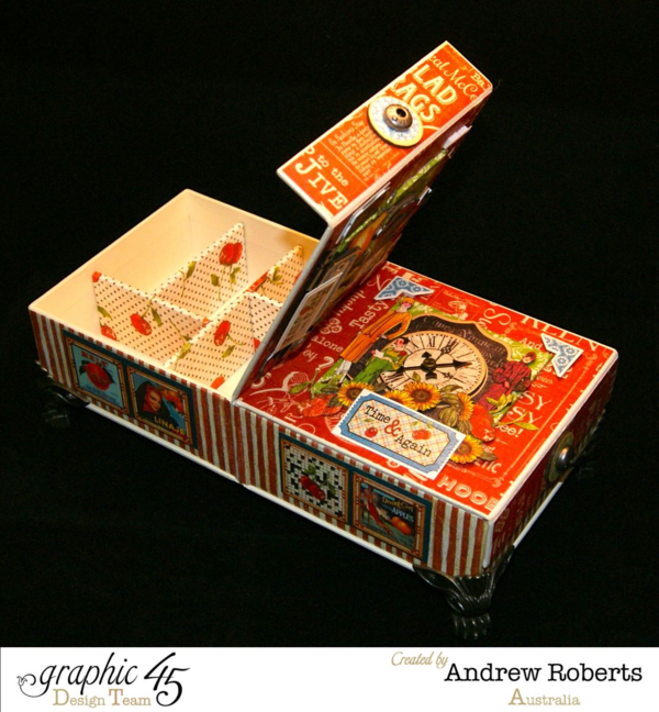 Times nouveau haberdashery box by Andrew #graphic45