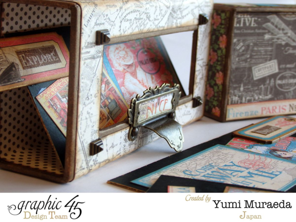 Gorgeous Come Away with Me altered music box by Yumi #graphic45