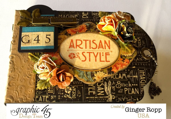 G45 Artisan Style Tag Mini by Ginger! Check out the video tutorial for this great project #graphic45