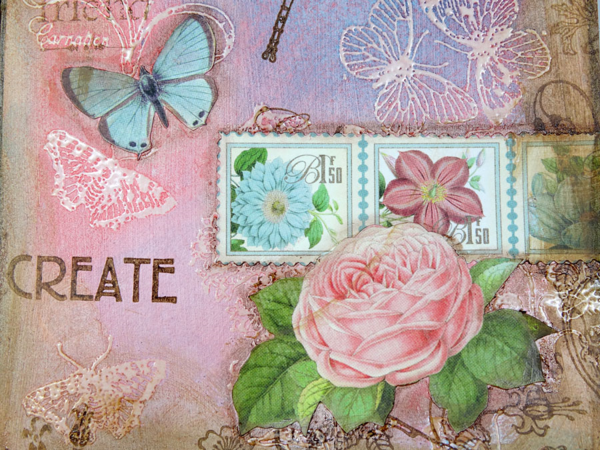 Gorgeous florals on Annette's Botanical Tea art journaling pages #graphic45