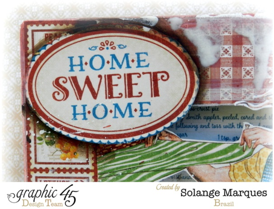 Magnificent mixed media on this Home Sweet Home 8x8 Matchbook Box by Solange! #graphic45