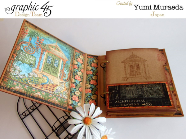 Amazing Artisan Style sketchbook by Yumi with gorgeous calendar pages #graphic45