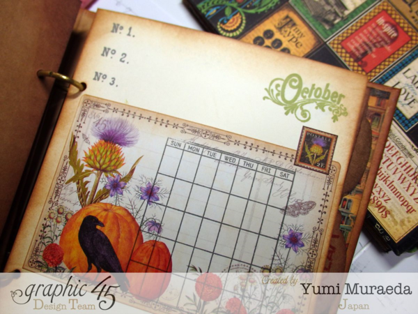 Amazing October page in our Artisan Style sketchbook by Yumi #graphic45