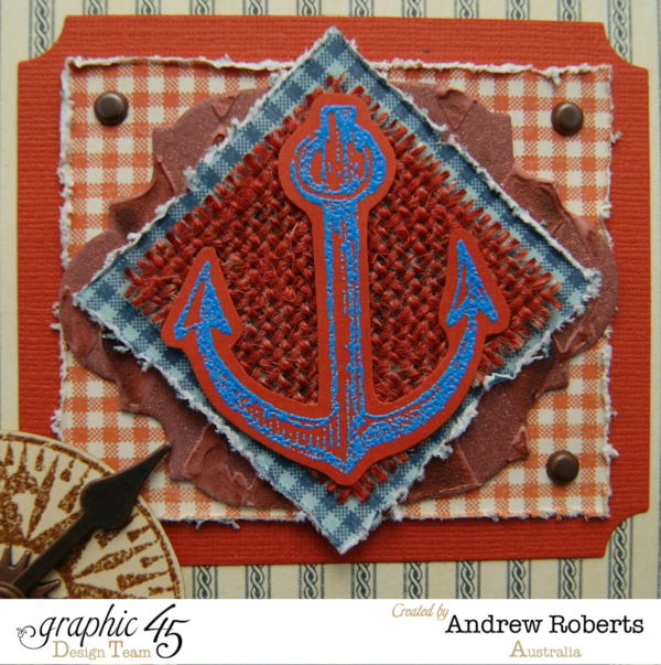 By the sea stamp tutorial project by Andrew! #graphic45