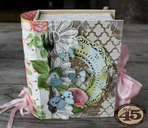 Botanical Tea Book Box by Miranda Edney #graphic45