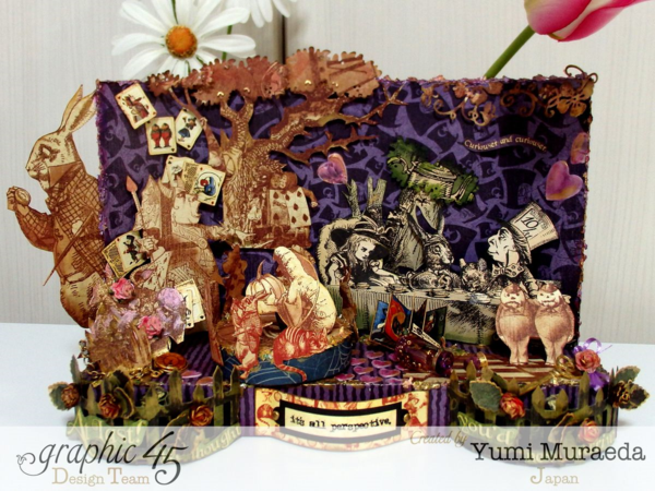 Hallowe'en in Wonderland Alice stage by Yumi #graphic45