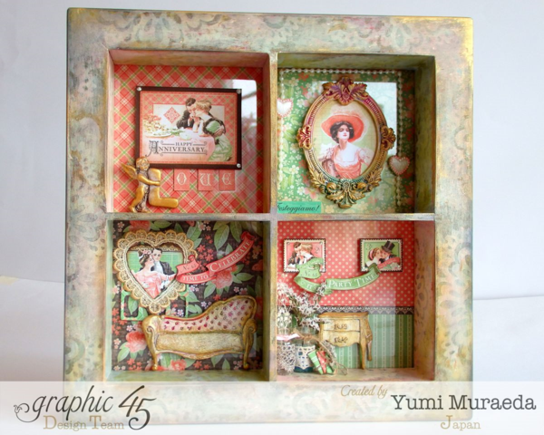 Yuyu3Graphic 45 Time to Celebrate Shabby Chic Shadowbox by Yumi #graphic45