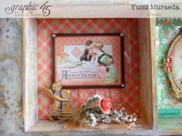 Yuyu3Graphic 45 Time to Celebrate Shabby Chic Shadowbox by Yumi #graphic45