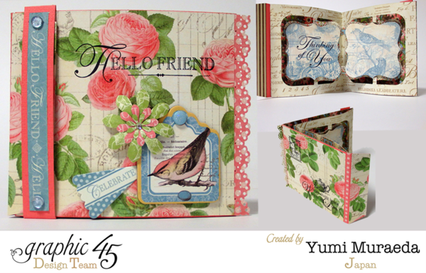 """Hello Friend"" Botanical Tea card by Yumi #graphic45"