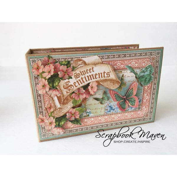 Spring Mini Album, Sweet Sentiments, by Danielle Copley, product by Graphic 45, photo 1