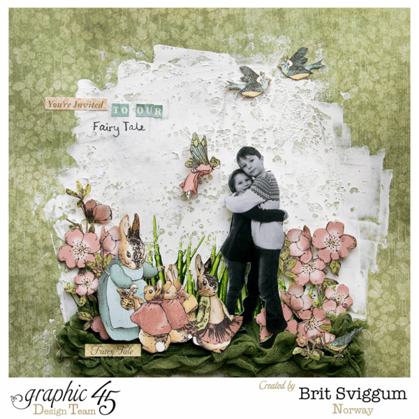 "Brit's Once Upon a Springtime ""Fairy Tale"" layout #graphic45"