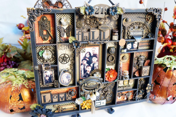 """Fall"" Steampunk Spells printer's tray by Arlene #graphic45"