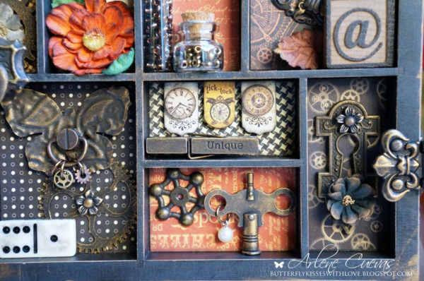 Fall Steampunk Spells printer's tray by Arlene #graphic45