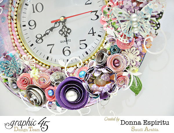 Mixed media altered clock by Donna made with scraps #graphic45