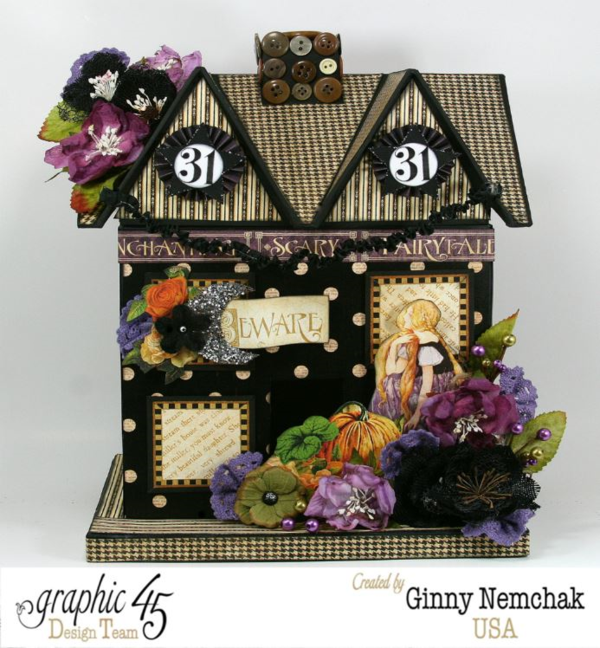 An Eerie Tale Halloween House by Ginny #graphic45