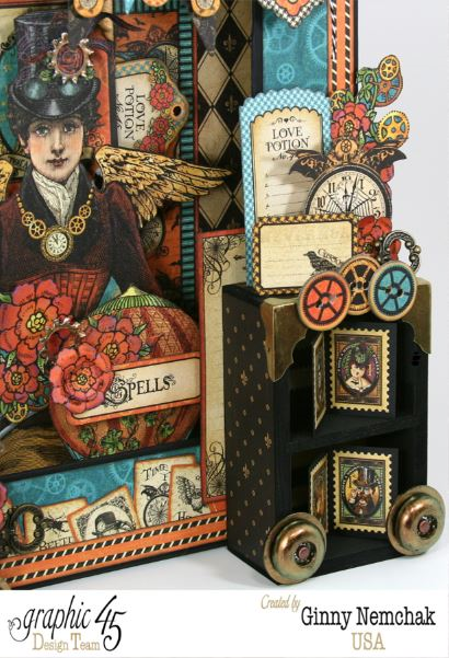 Steampunk Spells shadowbox by Ginny #graphic45