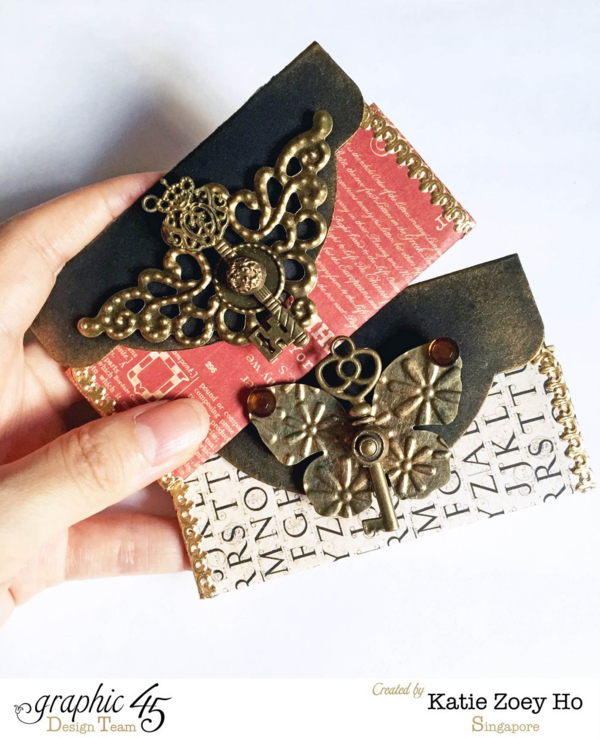Artisan Style creative card holders + Tutorial by Katie Zoey Ho #graphic45