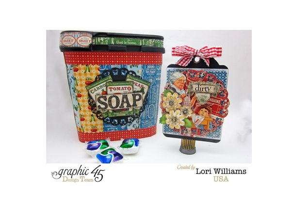 Soap Box with Tag by Lori Williams using Graphic 45 Home Sweet Home Product 1