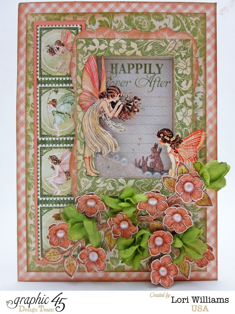 Once Upon a Springtime Shaker Card by Lori Williams Product Used Graphic 45 1