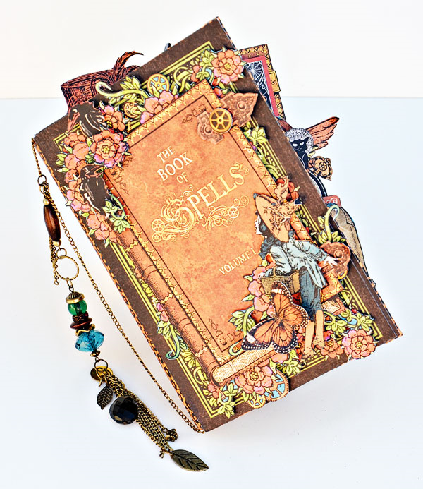 Steampunk Spells altered book of spells by Joanne Bain #graphic45