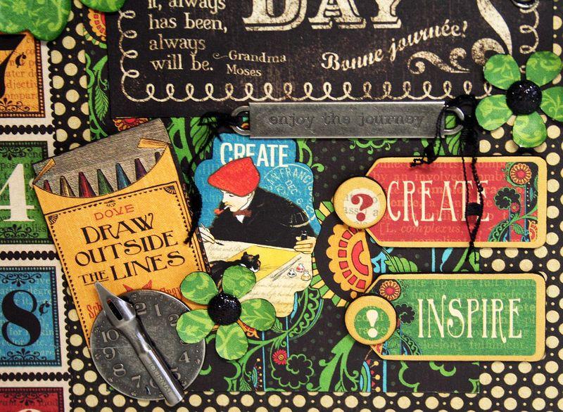 Notebook Organizer, Typography, Maggi Harding, Graphic 45 (2) of 4