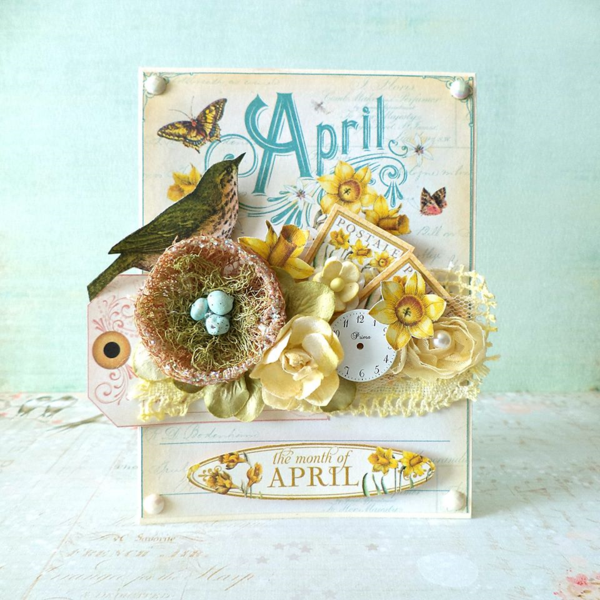 April Time to Flourish card by Mariuisz Gierszewski #graphic45