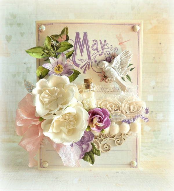 May Time to Flourish card by Mariuisz Gierszewski #graphic45