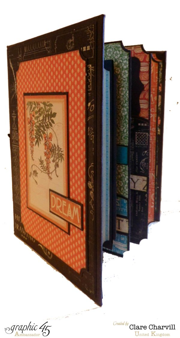 Artisan Style Bureau and Pocket Album 1 Clare Charvill Graphic 45