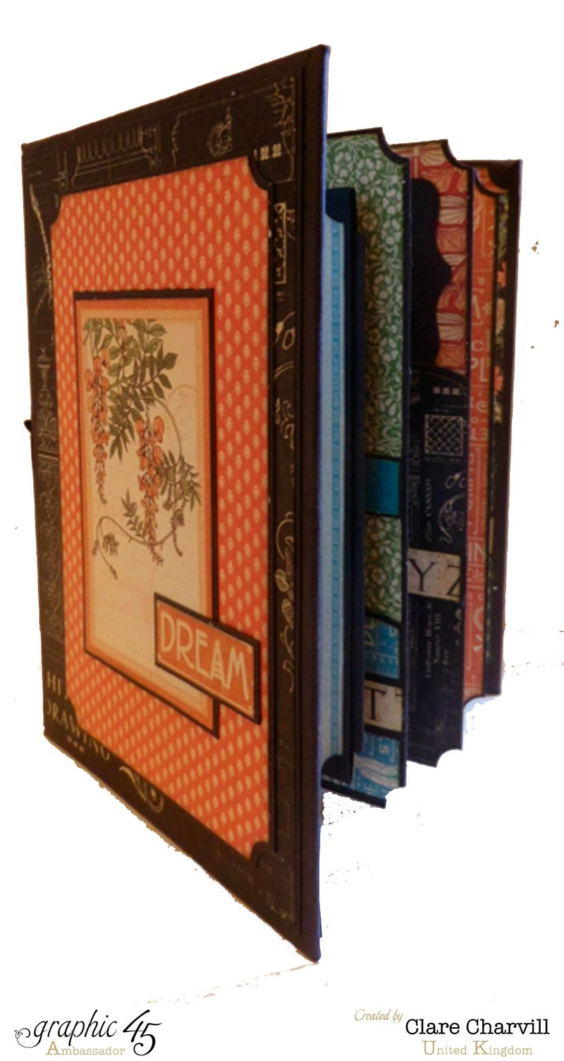 Artisan Style Bureau and Pocket Album 6 Clare Charvill Graphic 45