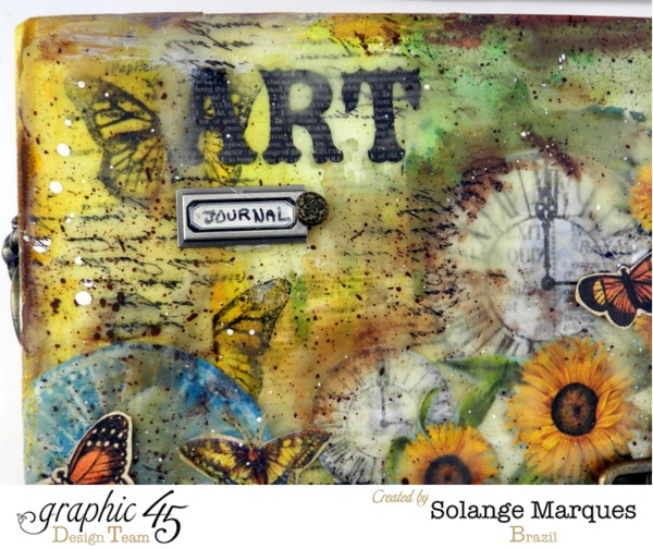 Art Journal cover by Solange Marques using Graphic 45