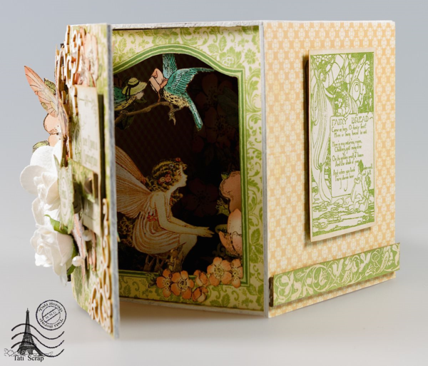 Once Upon a Springtime altered box and light by Tati Scrap #graphic45
