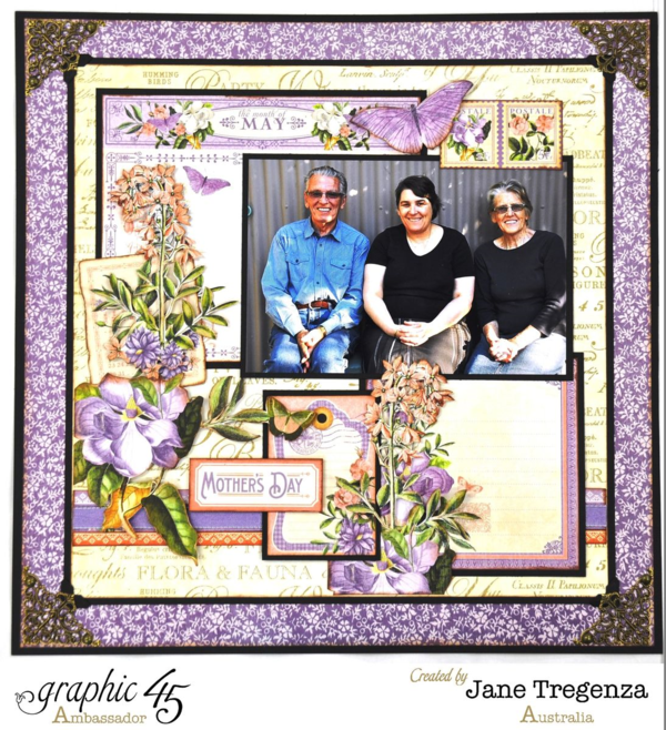 May Double Layout by Jane Tregenza using Time to Flourish #graphic45