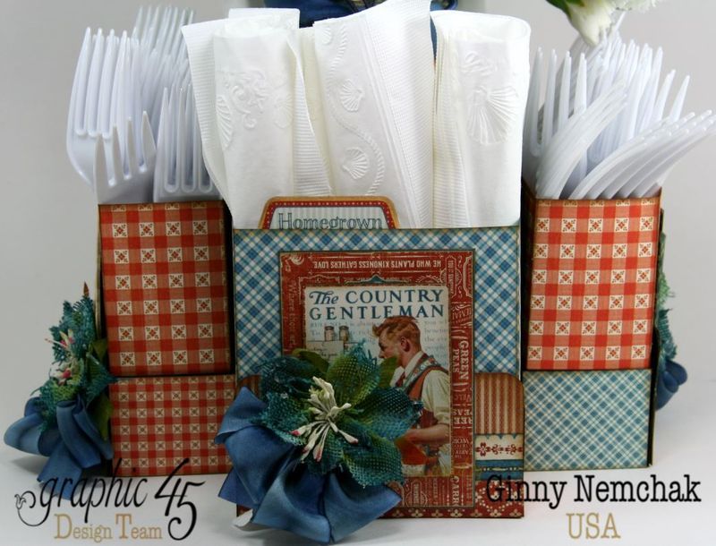Home Sweet Home Floral Centerpiece Napkin and Utensil Holder 5