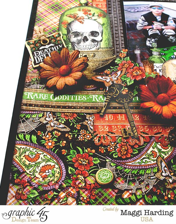 Halloween layout, Rare Oddities, Maggi Harding, Graphic 45 (1)