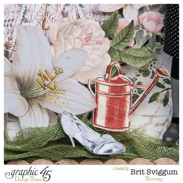 Brit's fabulous Cinderella layout using Gilded Lily #graphic45