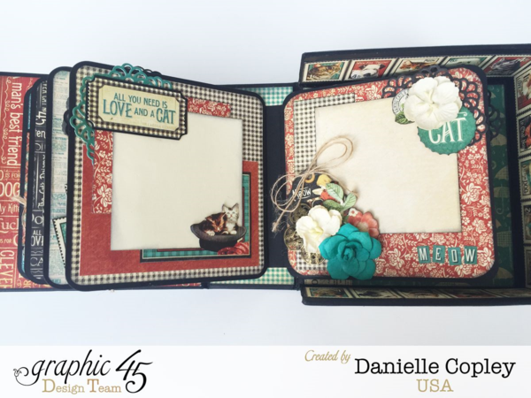 RCAD Boxed Mini Album, Raining Cats and Dogs, by Danielle Copley, Product by Graphic 45