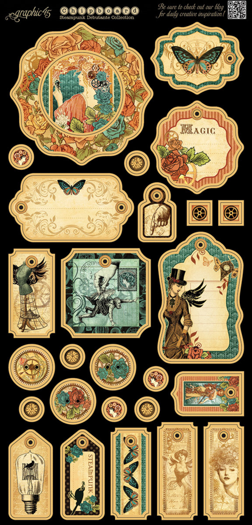 Steampunk Debutante chipboard that comes with the Deluxe Collector's Edition pack in stores in late August 2015 #graphic45 #sneakpeeks